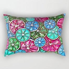 Citruses, Oranges, Lemons, Limes. Watercolor pattern Rectangular Pillow