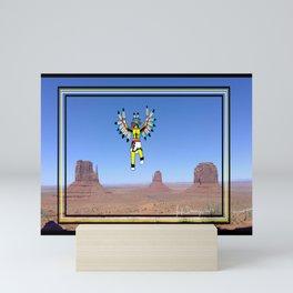 Eagle Kachina Over Monument Valley Mini Art Print