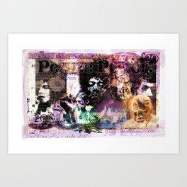 People Power Brit Version 01 Art Print