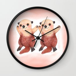 Otterly Adorable Otter Wall Clock