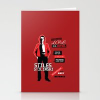 stiles stilinski Stationery Cards featuring Stiles Stilinski Quotes Teen Wolf by Alice Wieckowska