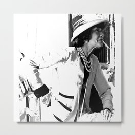 VINTAGE COCO: WHITE SUIT Metal Print