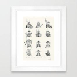 All Warriors Framed Art Print