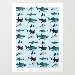 Shark Cage Art Print