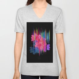 Night Blooming Bouquet Unisex V-Neck