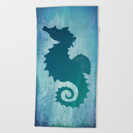 Seahorse of a Different Color ~ Marine Life Beach Towel