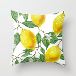 TROPICAL LEMON TREE Throw Pillow