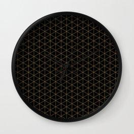 Dark night hidden stars Patterns Design Wall Clock