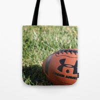 football Tote Bags featuring Football by Images by Danielle