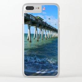 Fishing Pier on Venice Beach - Venice Florida Clear iPhone Case