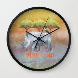 RHINO - FUN - rhinoceros - Africa Animal Wall Clock