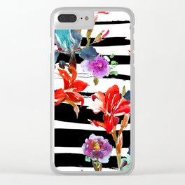 Wild Stripes Clear iPhone Case