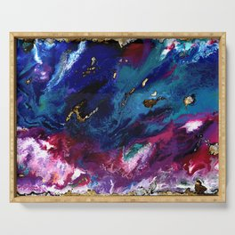 Brendon Urie abstract synesthetic painting Serving Tray