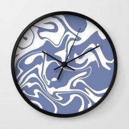 Soft Violet Liquid Marble Effect Design Wall Clock