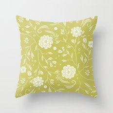 Sunny floral pattern Throw Pillow