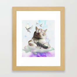 mi$hka the tra$hkat Framed Art Print