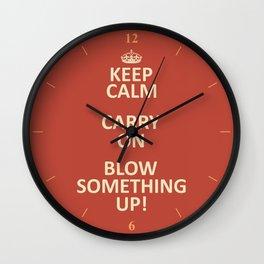 Keep Calm...Destroy! Wall Clock