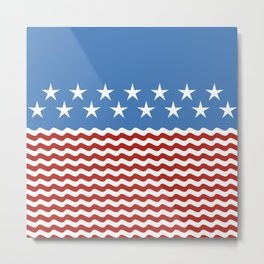 Patriotic Wave Metal Print