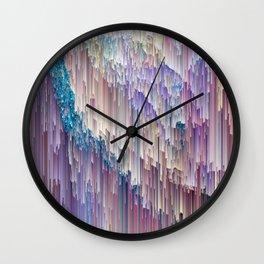 Dripping Rainbow Wall Clock