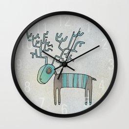 Lost Reindeer Wall Clock