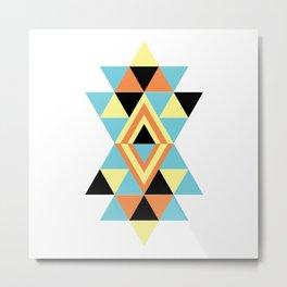 Geometric Modern Bohemian Metal Print