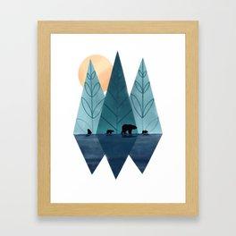 bears family travel Framed Art Print