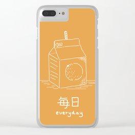 Orange Juice (mainichi) Clear iPhone Case