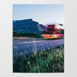Table Mountain and Lion's Head Light Trail Poster