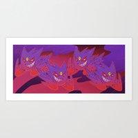 gengar Art Prints featuring Mega Gengar by Vaahlkult
