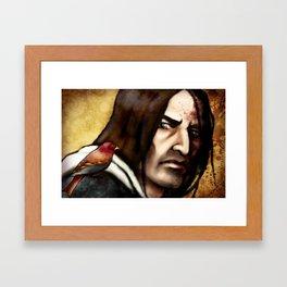 A Bird on His Shoulder Framed Art Print