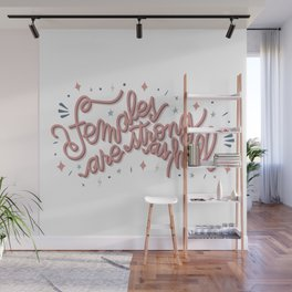 Females are strong as hell - pink Wall Mural
