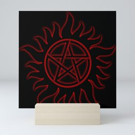 Anti Possession Sigil Red Glow Mini Art Print