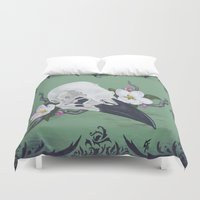crow Duvet Covers featuring crow by Sarah K. Fowler