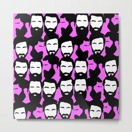 Beards are sexy_pink Metal Print