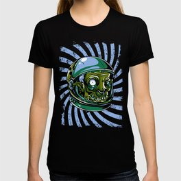 Astronaut Zombie Scary Face - I WAS TAKEN BY ALIENS T-shirt