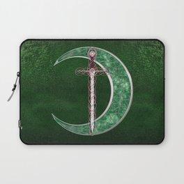 Green Celtic Moon Laptop Sleeve