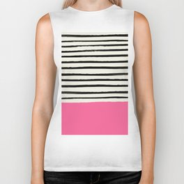 Watermelon & Stripes Biker Tank
