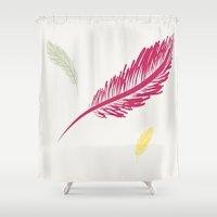 turkey Shower Curtains featuring Wild Turkey by Burlap and Bourbon