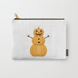 Pumpkin Snowman Carry-All Pouch