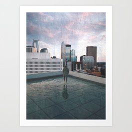 Minneapolis Minnesota Skyline Views Art Print