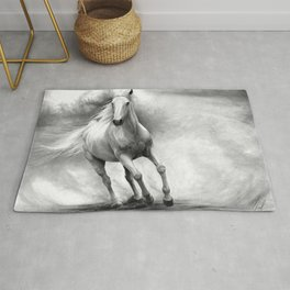 Horse GRAPHITE DRAWING II. Rug