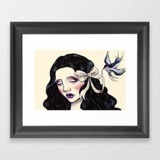 A little bird told me  Framed Art Print
