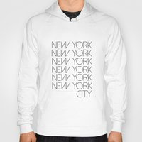 new york city Hoodies featuring New York New York City by Stylish in Sequins