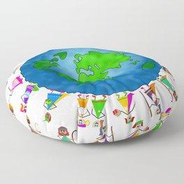 Christmas Nativity Kids Floor Pillow