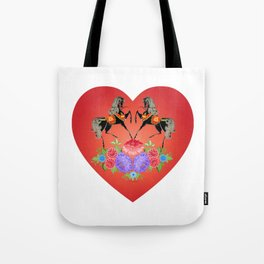 Horse Girl Women I Love Horses Cute Heart Horseback Riding Horse Fan & Lover Gift. Tote Bag