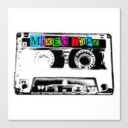Mixed Tape Cassette Canvas Print