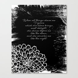 Charles Baudelaire - The Temptation - She consoles me like the night Canvas Print