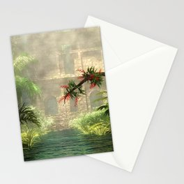 Lost City in the jungle Stationery Cards
