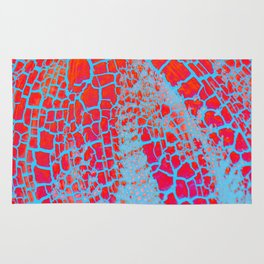 Cracked Red Rug