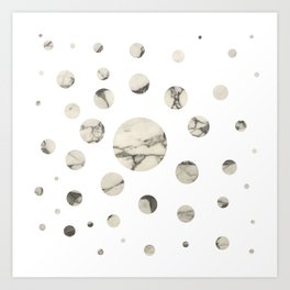 Marble dots I. Art Print